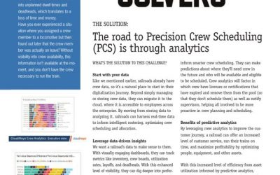 Accelerate Precision Scheduled Railroading with precise crew scheduling